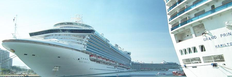 API Puerto Vallarta recibe tres cruceros simultáneamente